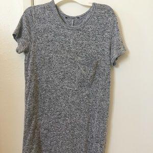 Heather gray T-shirt Dress